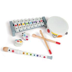 Dřevěné hudební nástroje Janod - set