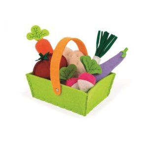 Textilní potraviny do dětské kuchyňky Janod