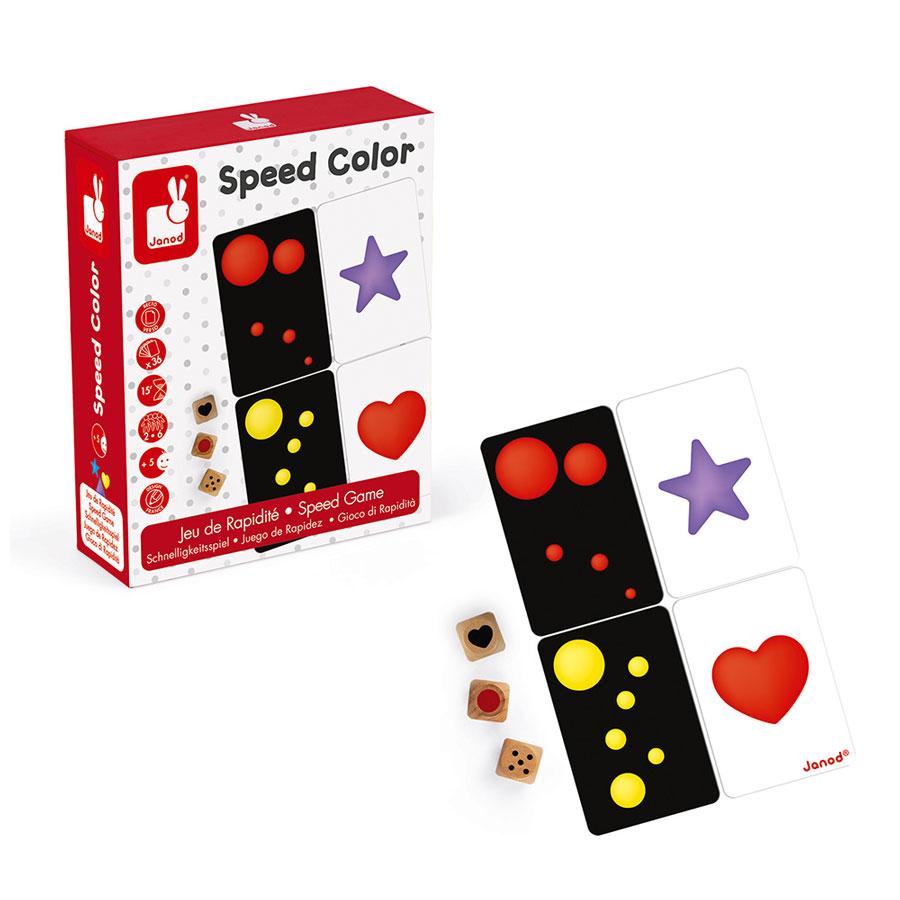 Dětská karetní hra Janod Rychlé barvy