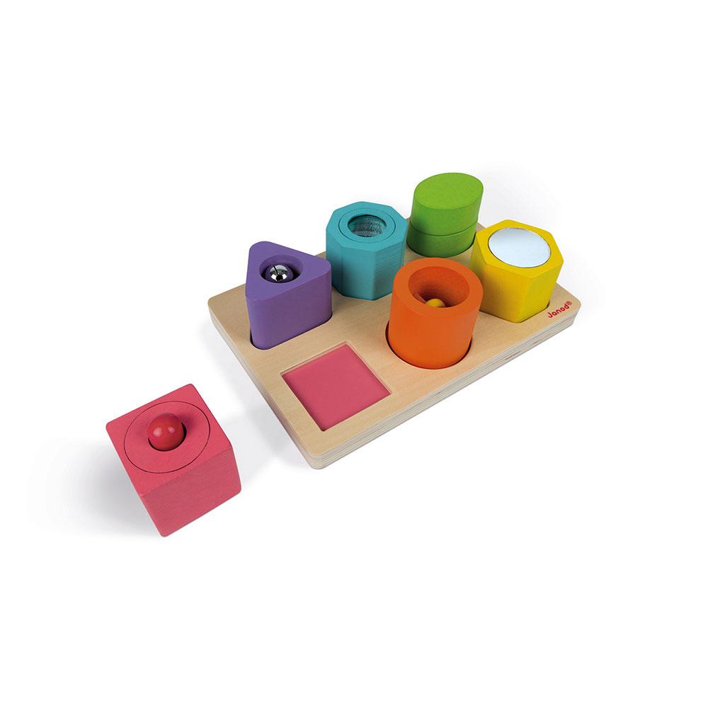 Dětské dřevěné vkládací puzzle Janod