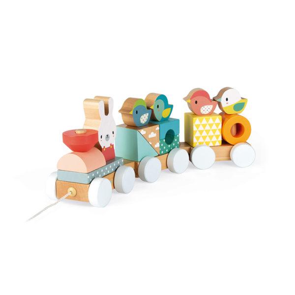 Dřevěný vláček Pure Janod pro děti od 1 roku